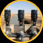 contoh pemasangan pompa air tenaga surya tipe surface untuk solusi irigasi