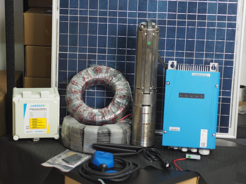 komponen pompa air tenaga surya