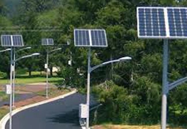 lampu pju panel surya