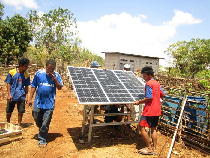 dana desa pompa tenaga surya
